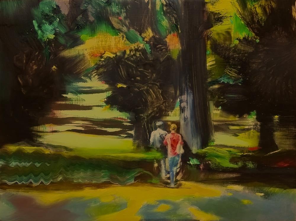 """""""Viale Fiorello La Guardia"""" original fine art by Eszter Szicso"""