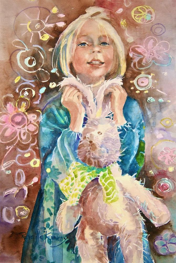 """Raggedy Bunny Dreams"" original fine art by Reveille Kennedy"