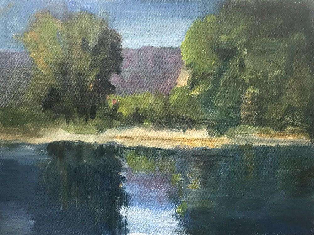 """""""Beach Cliff"""" original fine art by Donna Dumont"""