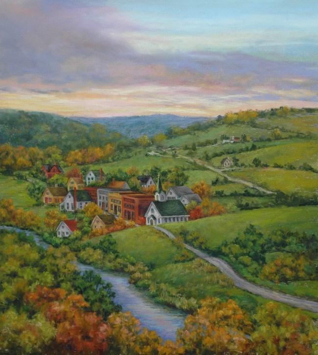 """Return to Franklin Hill"" original fine art by Susan Klabak"