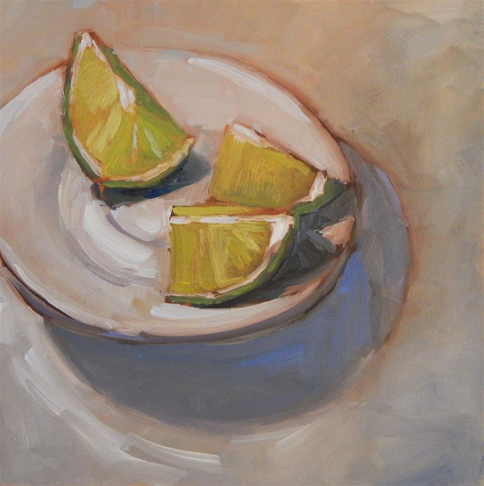 """Limes"" original fine art by Lisa Kyle"