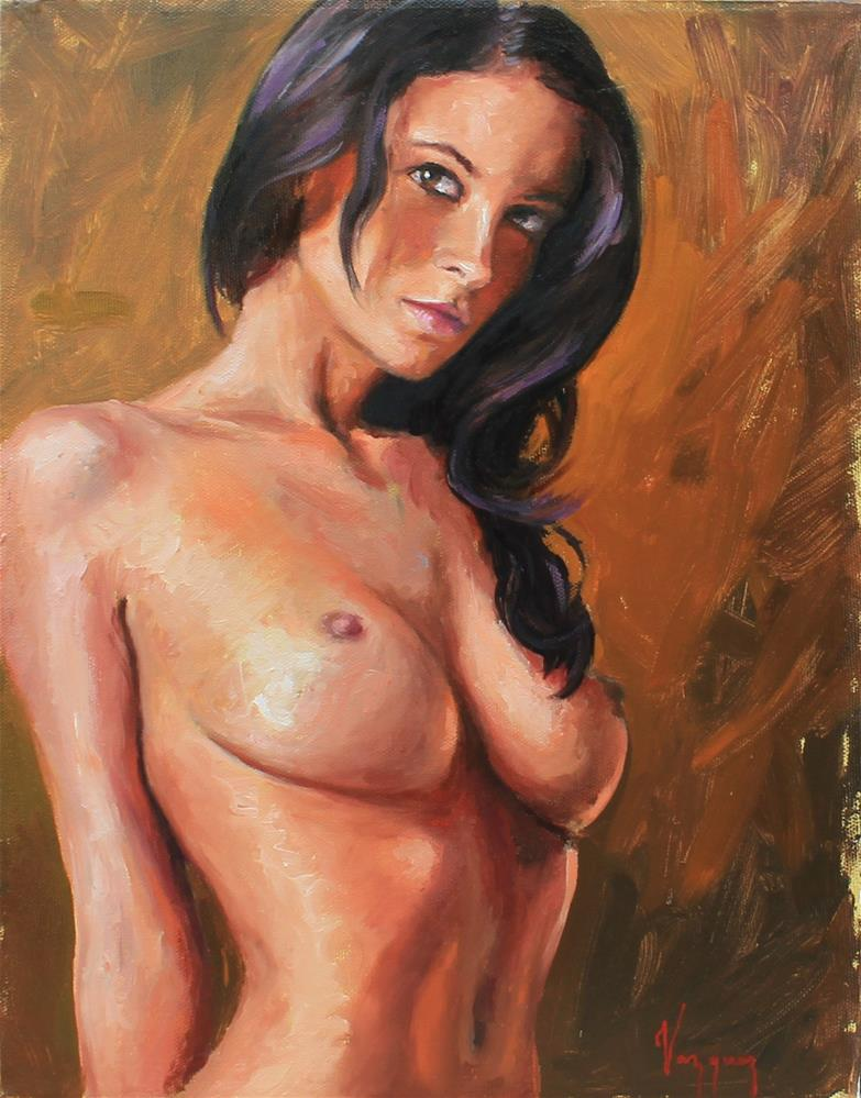 """oil painting nude"" original fine art by Marco Vazquez"