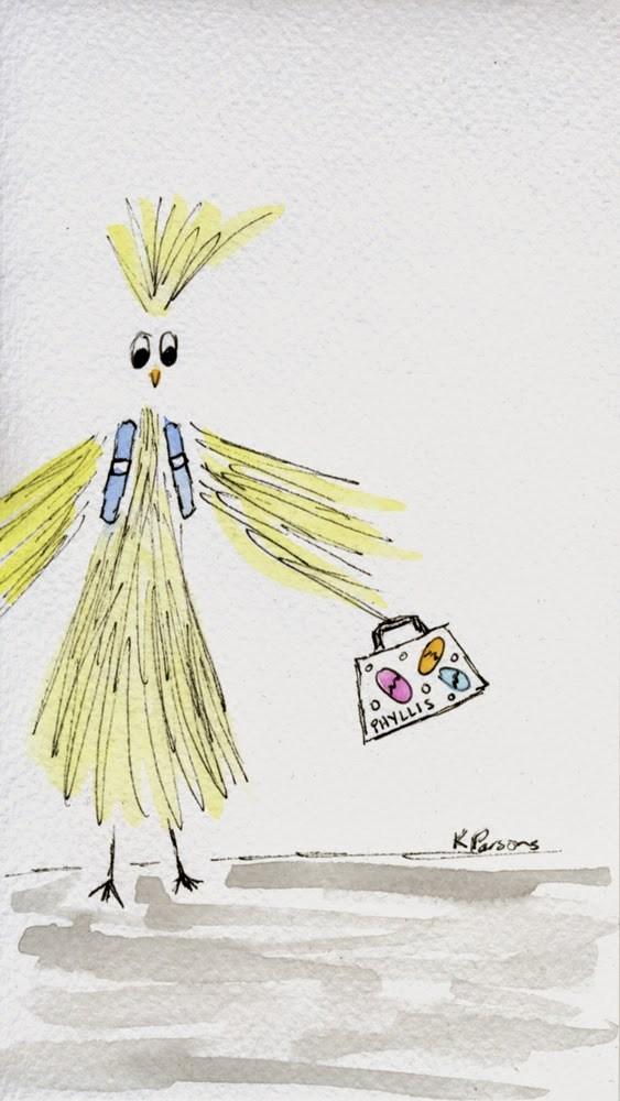 """Phyllis Goes to School!"" original fine art by Kali Parsons"