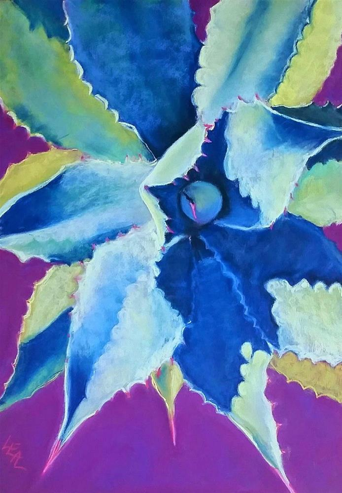 """Evening Agave Star"" original fine art by Anna Lisa Leal"