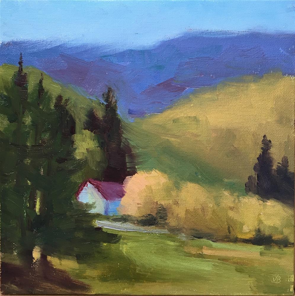 """Drain Valley I"" original fine art by Victoria  Biedron"
