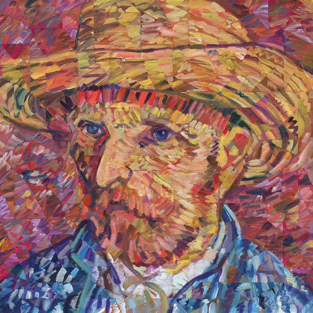 """Portrait of Vincent Van Gogh"" original fine art by Randal Huiskens"