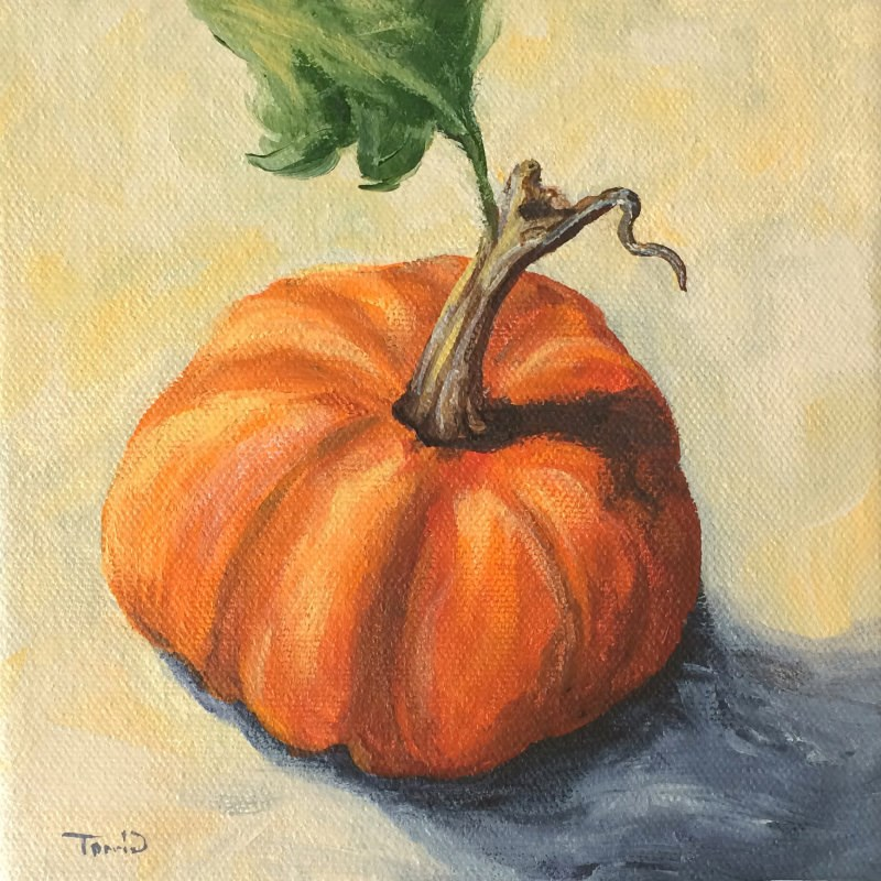 """Pumpkin Everything"" original fine art by Torrie Smiley"