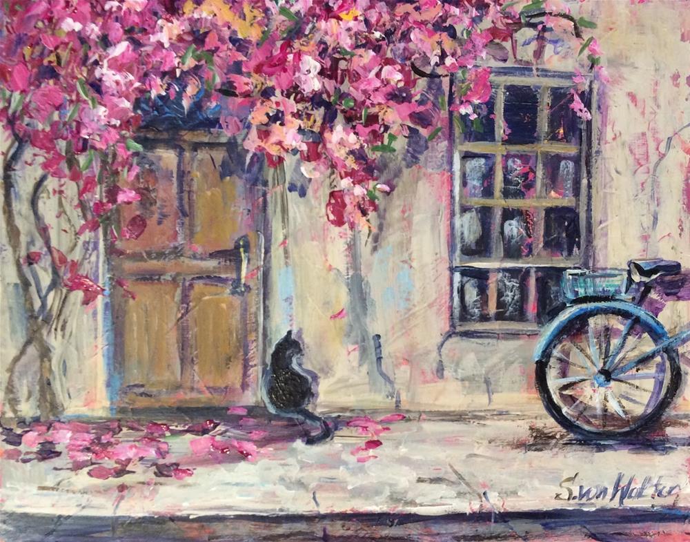 """""""Street in Provence"""" original fine art by Sonia von Walter"""