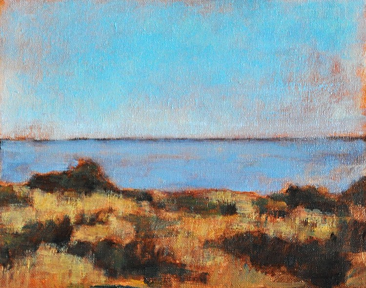"""Sea at Carlsbad"" original fine art by Kevin Inman"