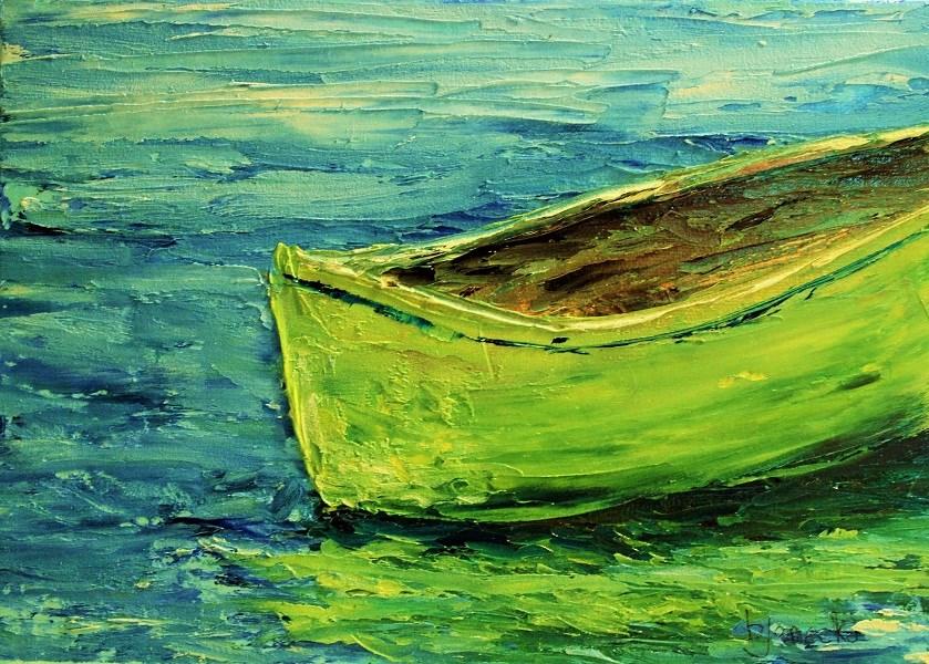 """Boat study 1"" original fine art by Barbara Janecka"