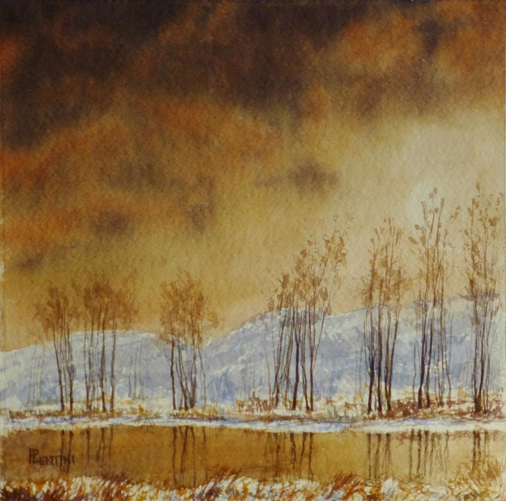 """Late January Evening"" original fine art by Peter Lentini"