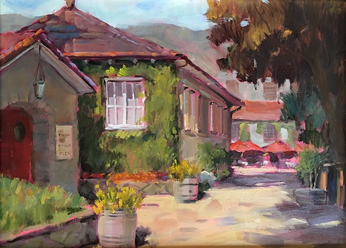 """Testarossa Winery"" original fine art by Deborah Newman"