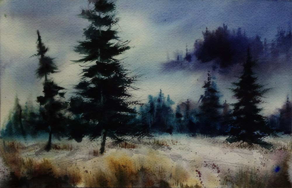 """Evergreen Notes"" original fine art by Arena Shawn"