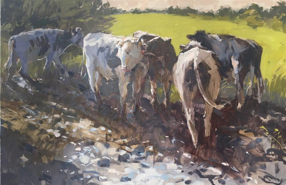 """Mud bath"" original fine art by Haidee-Jo Summers ROI"