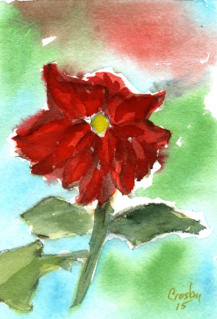 """Garden Beauty"" original fine art by Donna Crosby"