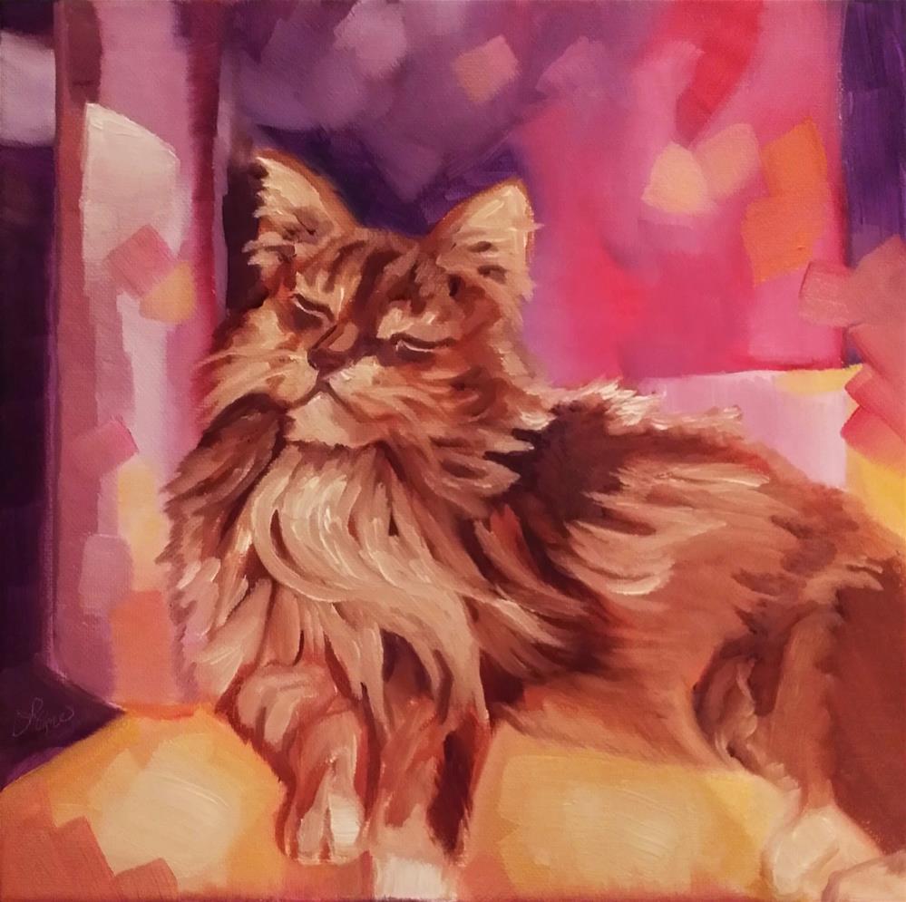 """Sunbath Bliss"" original fine art by Leni Tarleton"