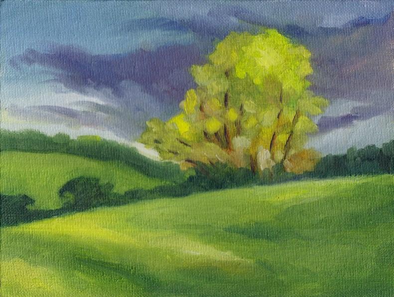 """Glowing Trees"" original fine art by J M Needham"