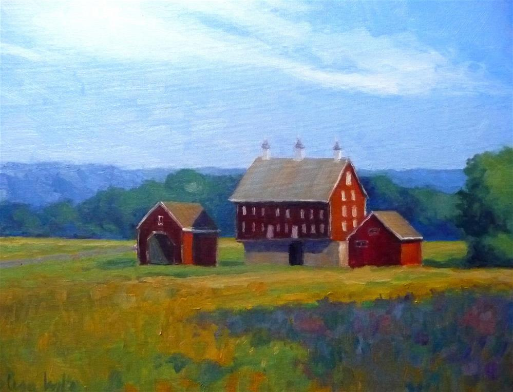 """Codori Barns"" original fine art by Lisa Kyle"