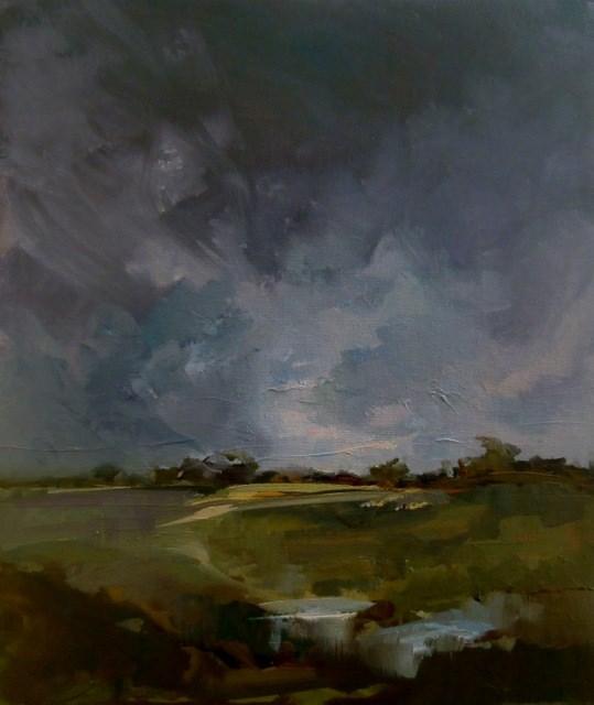 """Rain Shine"" original fine art by Anne Wood"