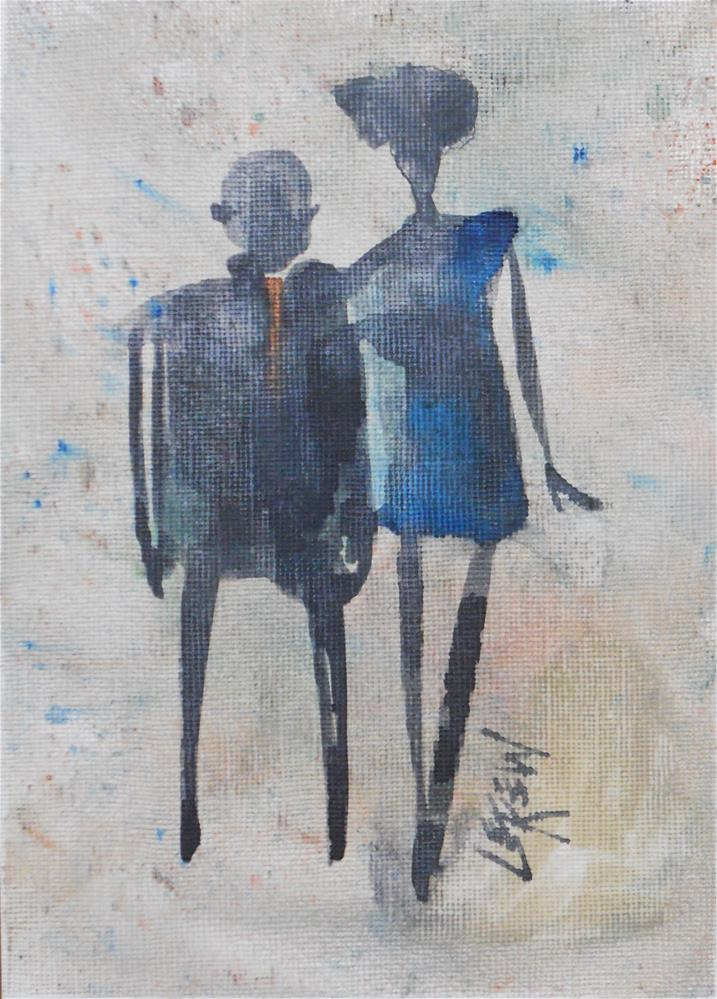 """Serendipity Blot Figure #140107 Larry Lerew"" original fine art by Larry Lerew"