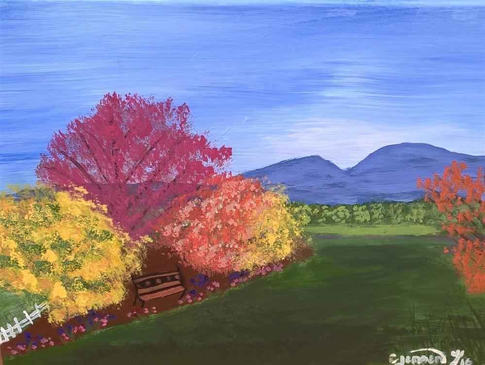 """Bruce's Garden"" original fine art by Cindy Jensen"