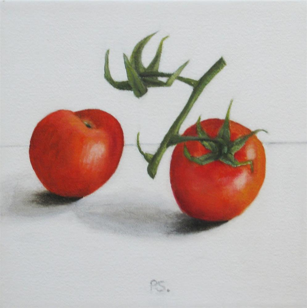 """Cherry Tomatoes II"" original fine art by Pera Schillings"