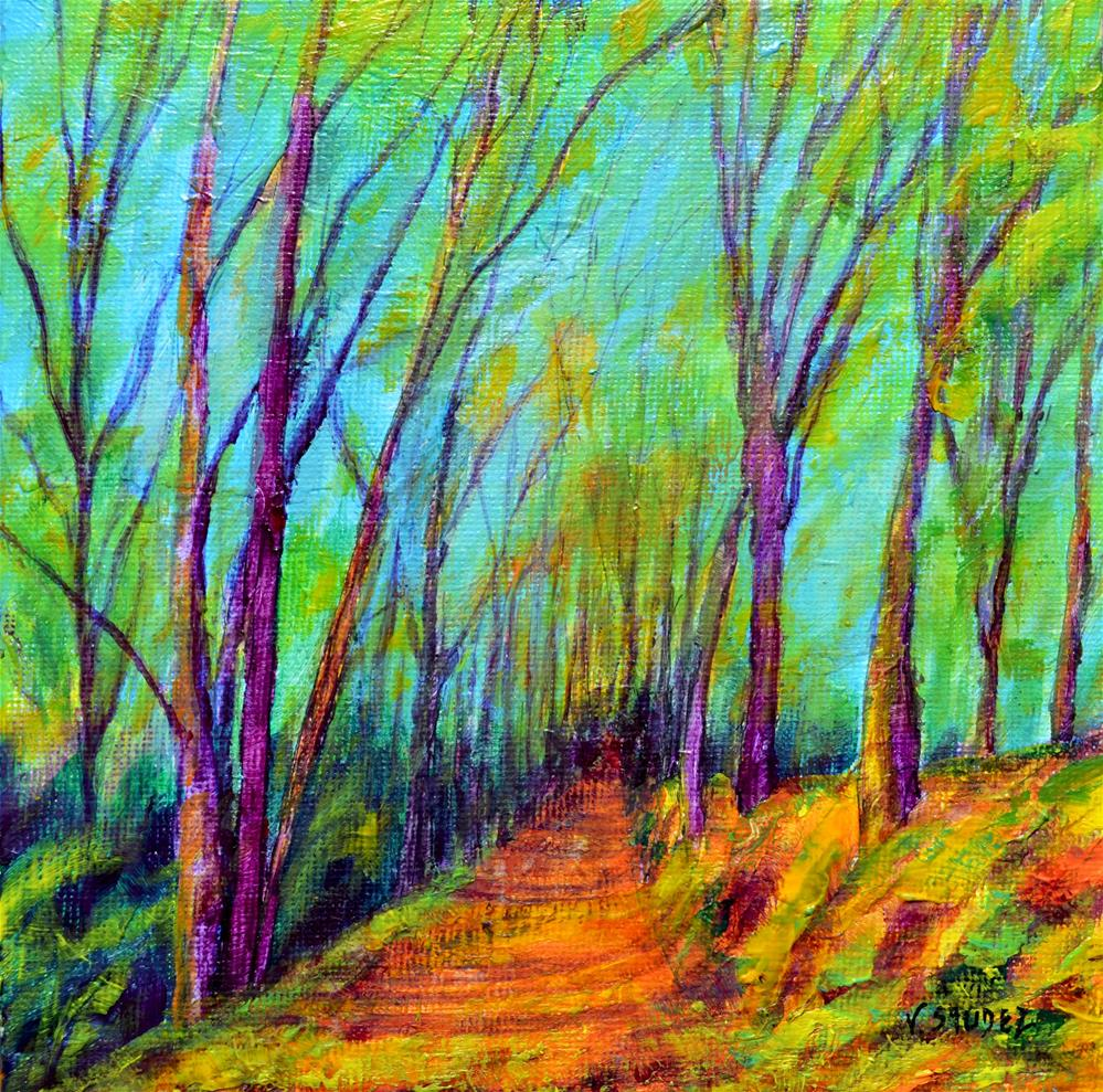 """The path"" original fine art by Véronique Saudez"