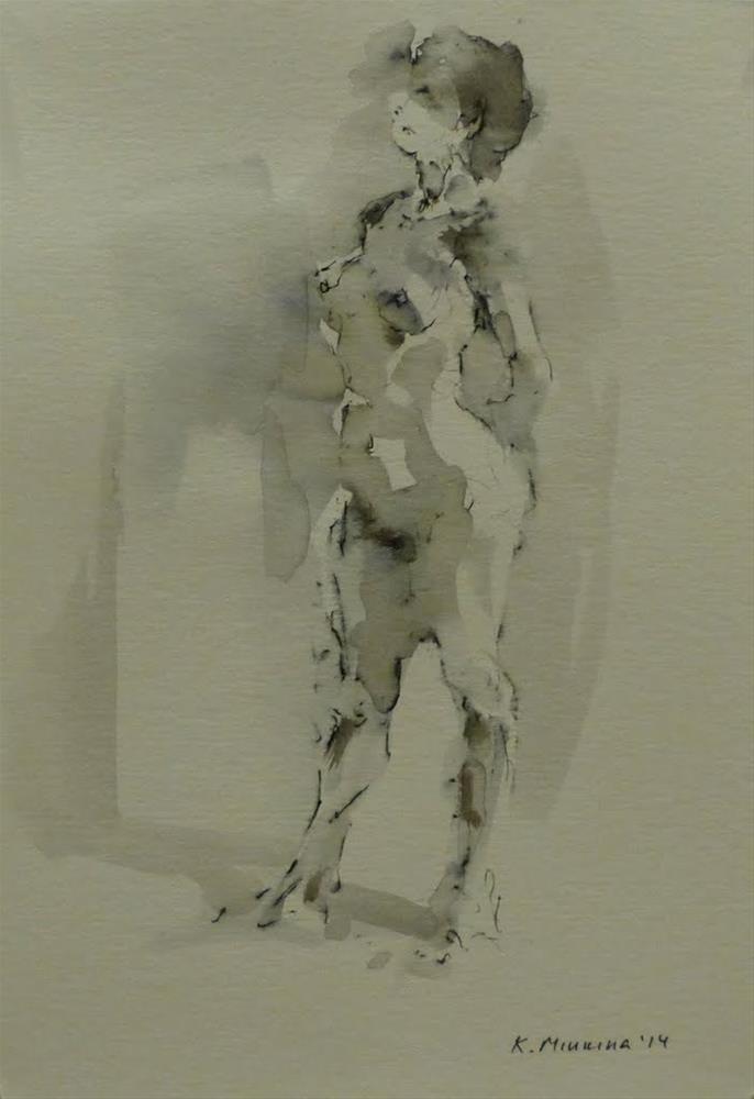 """nude1"" original fine art by Katya Minkina"