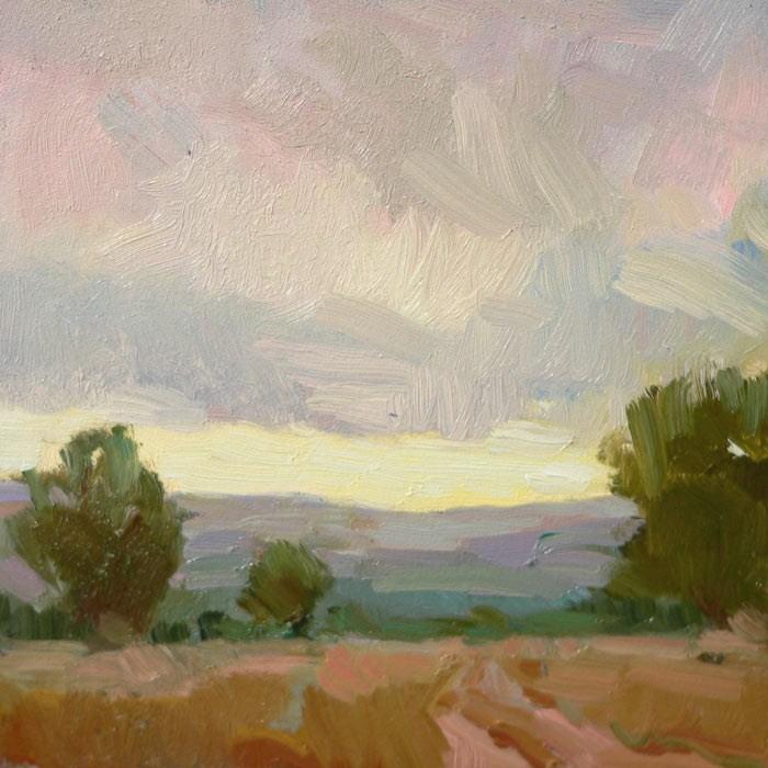 """Storm Hells Backbone - SOLD"" original fine art by Kathryn Townsend"