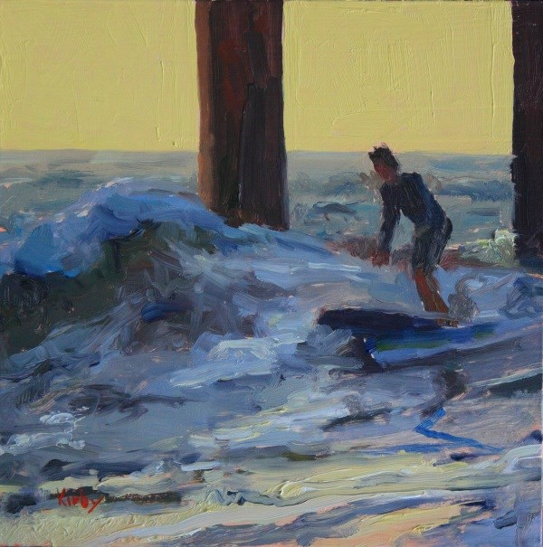 """Early Surf"" original fine art by Randall Cogburn"