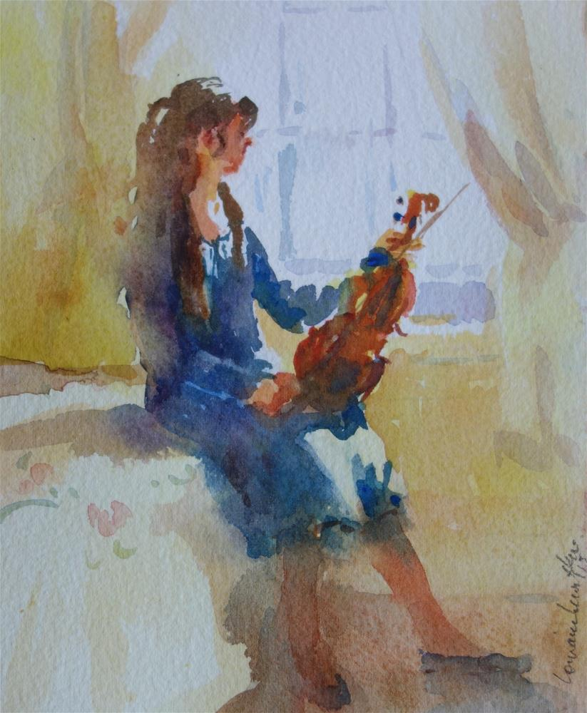 """Violin"" original fine art by Lorraine Lewitzka"