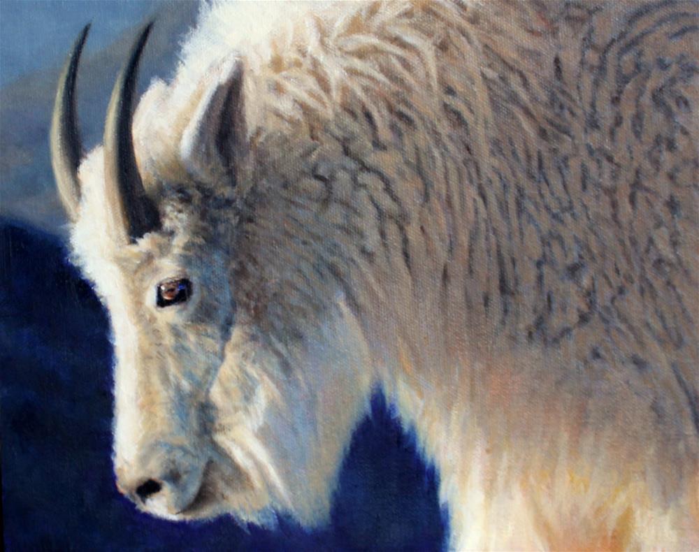 """""""Mountain Goat"""" original fine art by Joan Carroll"""