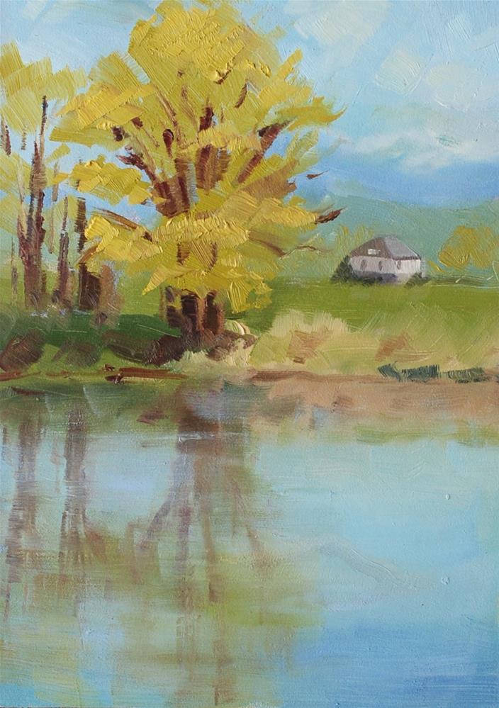 """Snohomish River - Plein Air"" original fine art by Susan McManamen"
