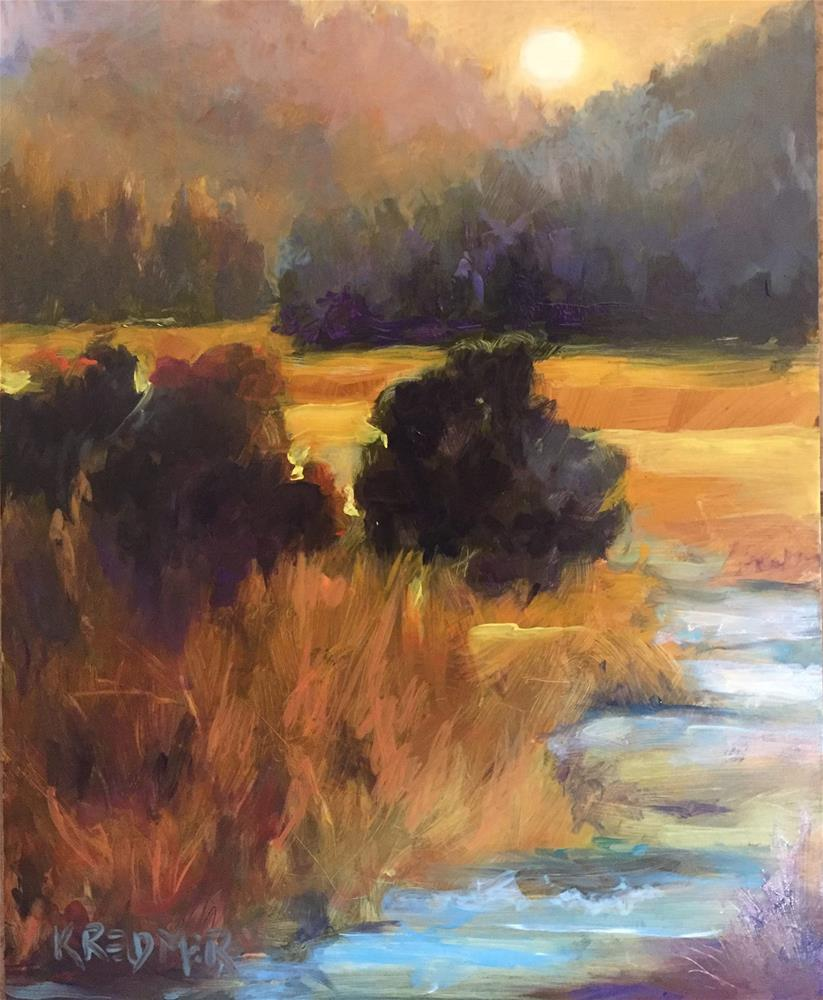 """River Meadows, Snohomish"" original fine art by Kathleen Redmer"
