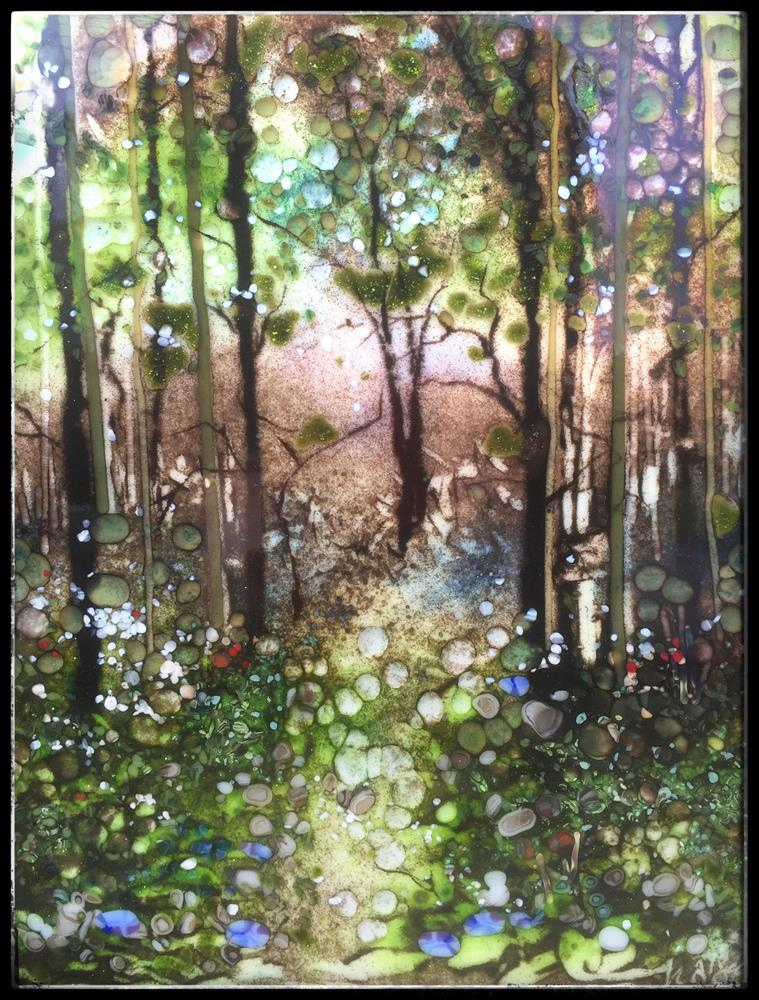 """Blue Bell Forest Walk"" original fine art by Kelly Alge"