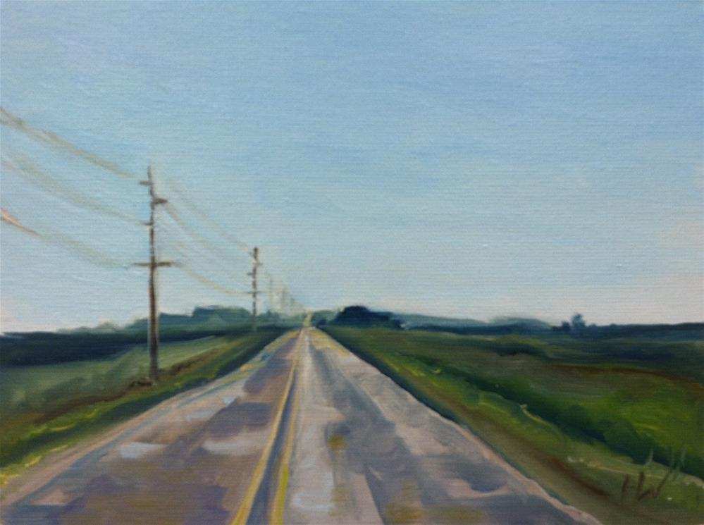 """Iowa C38"" original fine art by H.F. Wallen"