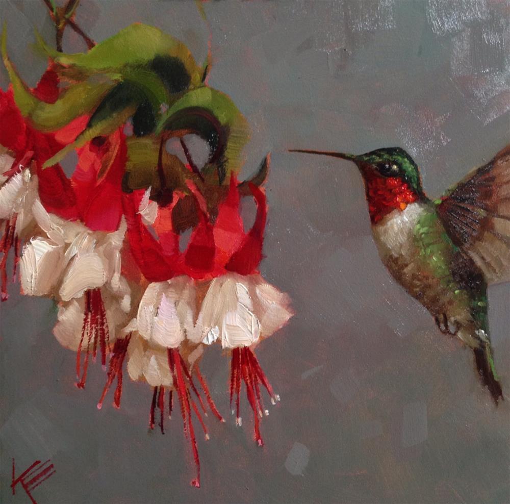 """""""Fluttering Friend"""" original fine art by Krista Eaton"""