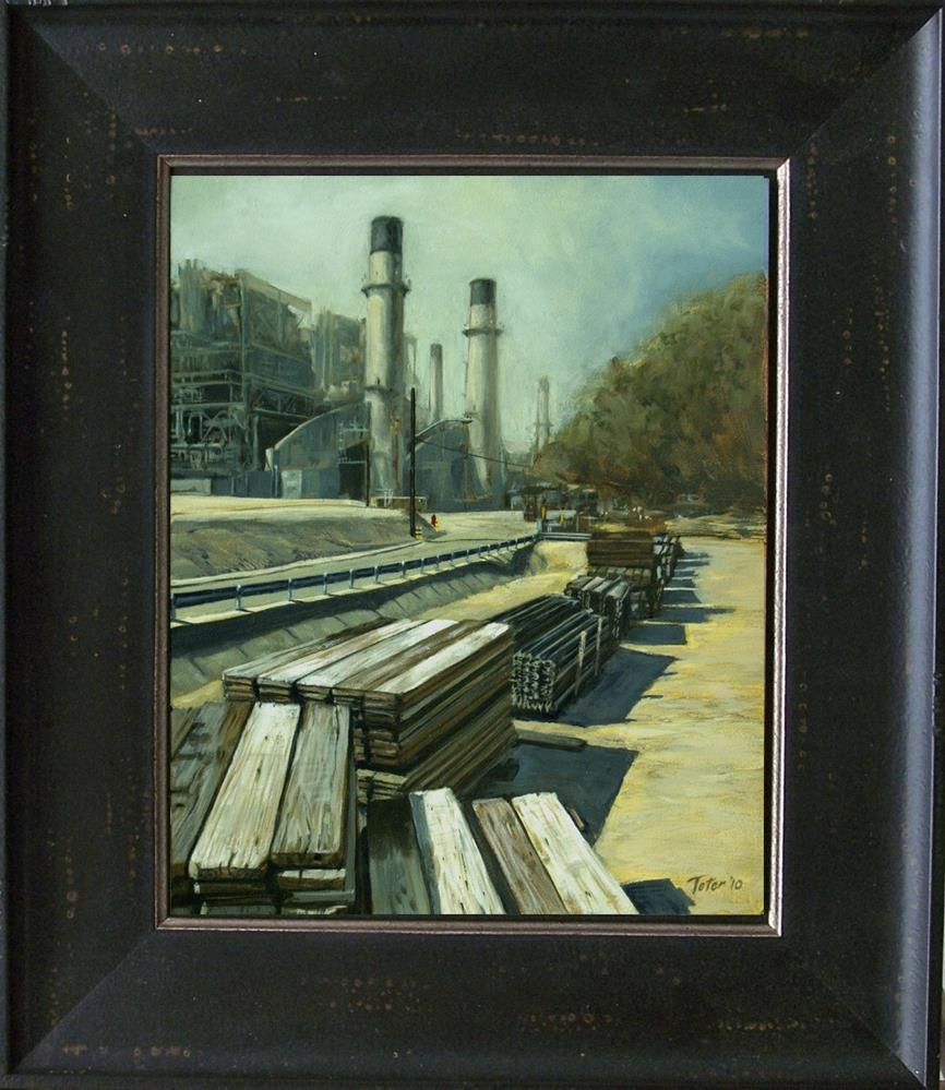 """Retired Power Plant"" original fine art by David J. Teter"