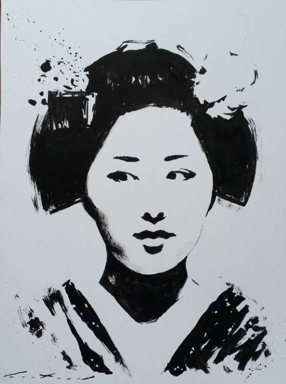 """Katsutomo"" original fine art by Phil Couture"