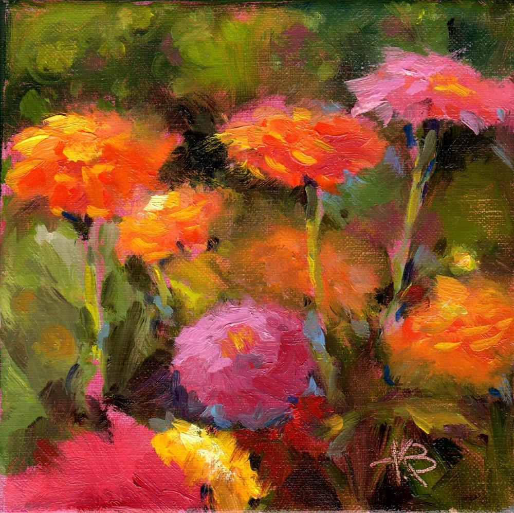 """Flower Field"" original fine art by Kathy Bodamer"