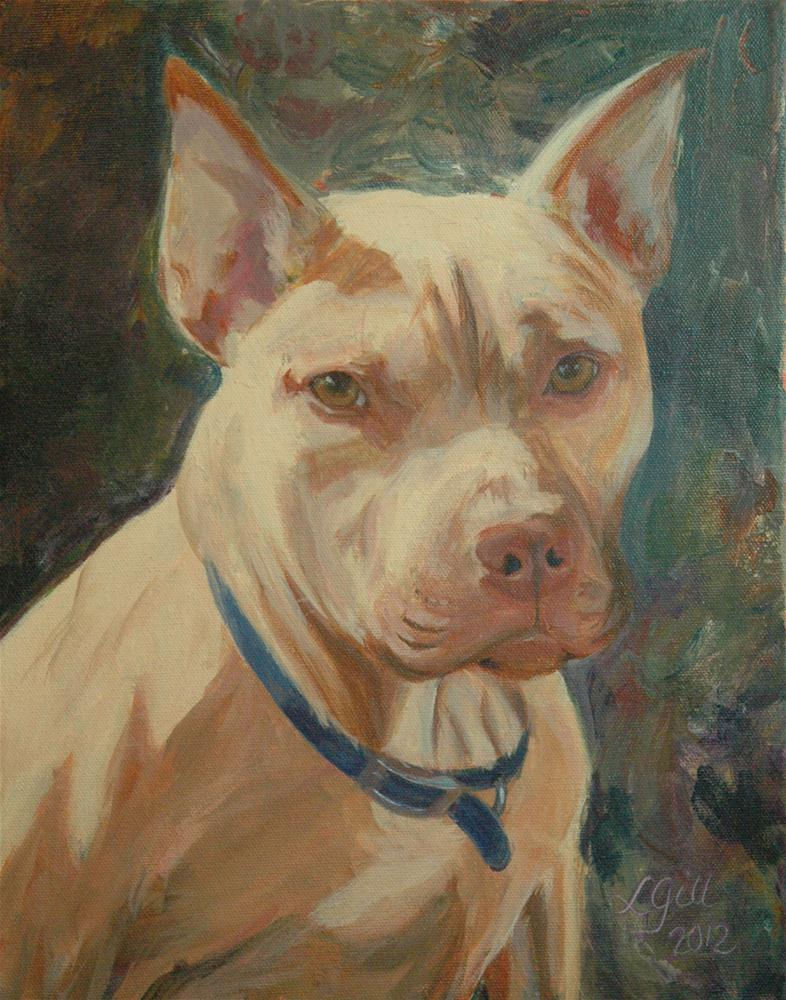 """Bruno in Sunshine"" original fine art by Lyn Gill"