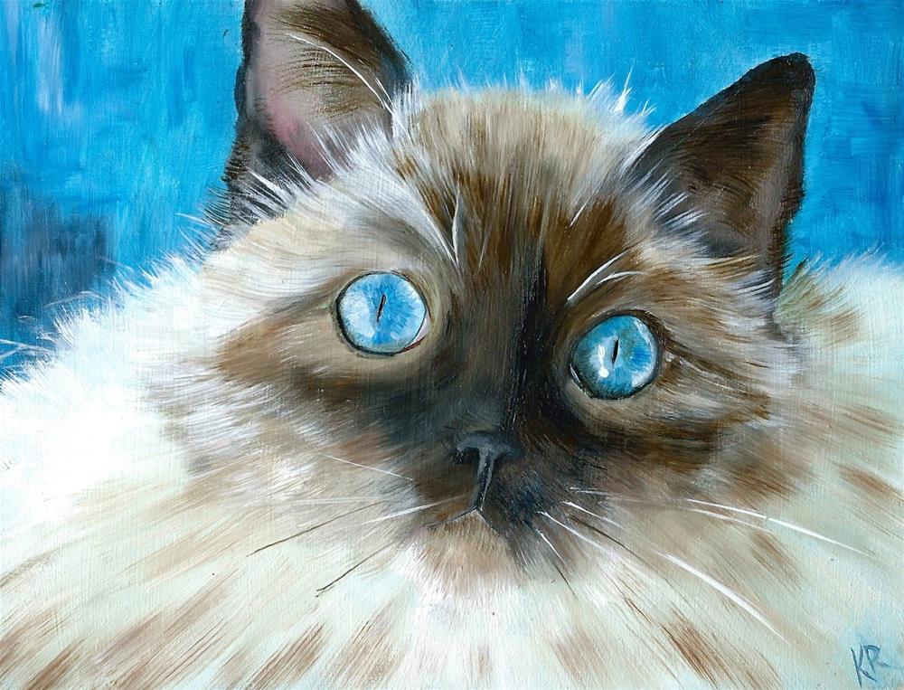 """""""Baby Blue Eyes"""" original fine art by Karen Robinson"""