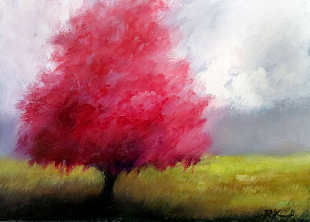 """Redbud Tree III"" original fine art by Bob Kimball"