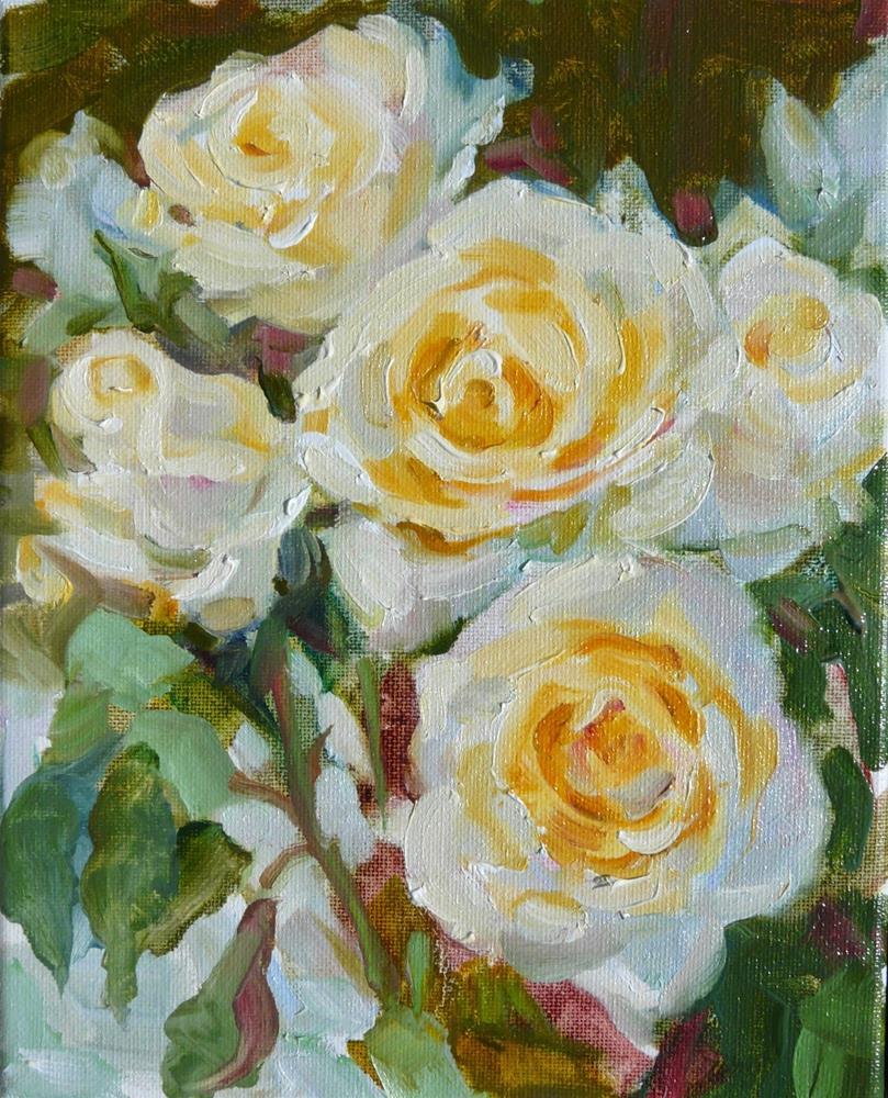 """""""Celebration Roses,Still life,oil on canvas,10x8,price300"""" original fine art by Joy Olney"""