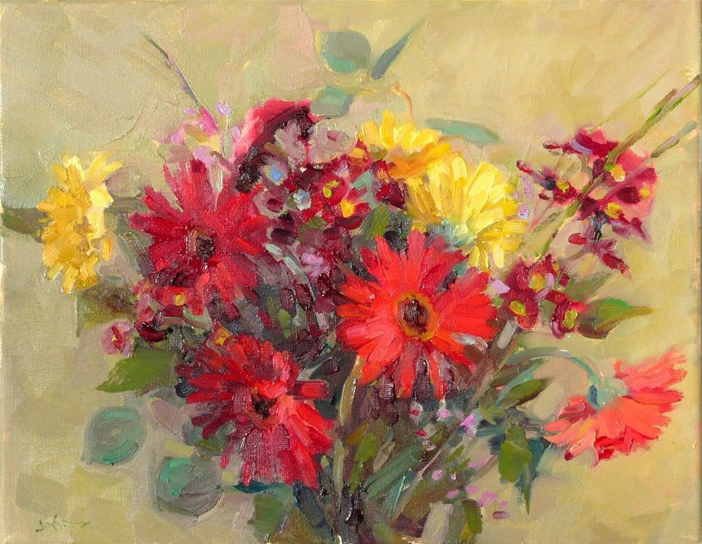 """Winter Bouquet,still life,oil painting,11x14,price$400"" original fine art by Joy Olney"