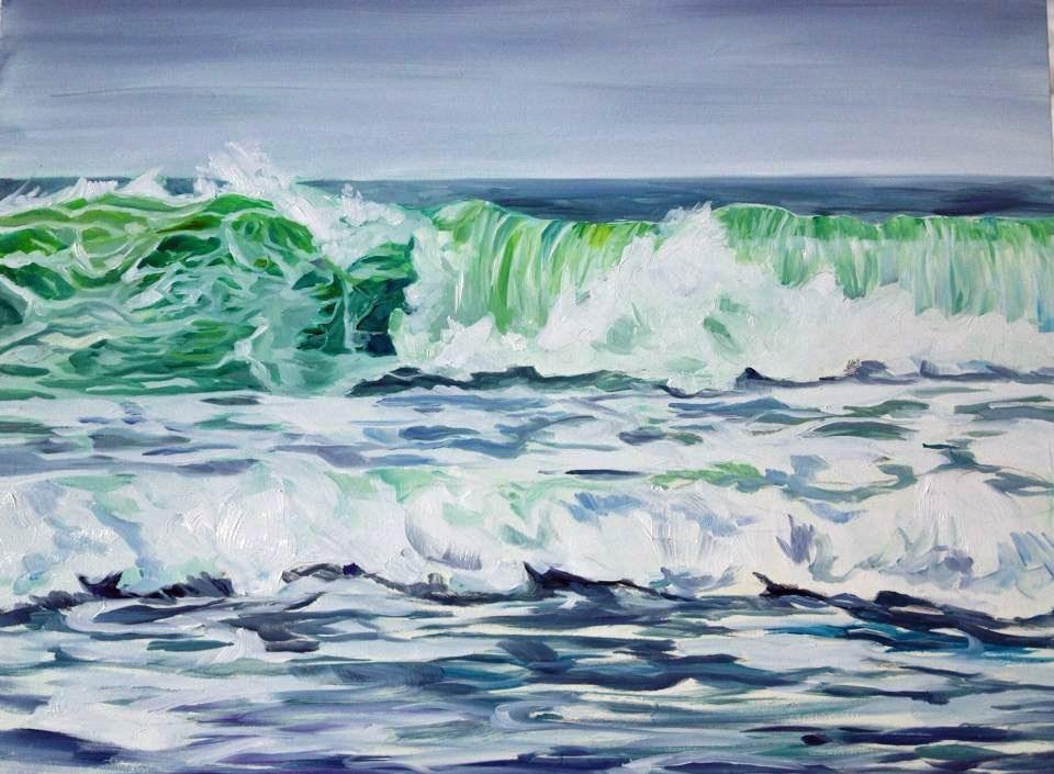 """Staring at Waves"" original fine art by Lauren Kuhn"