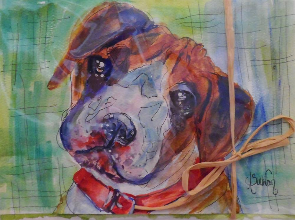 """Rough Ruff by Alabama Artist Angela Sullivan"" original fine art by Angela Sullivan"