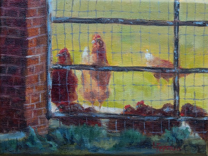 """Don't Fence Me In"" original fine art by Lina Ferrara"