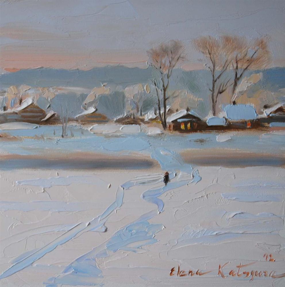 """Winter Morning"" original fine art by Elena Katsyura"