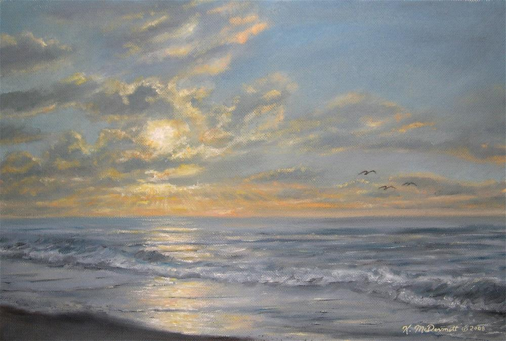 """Atlantic Dawn"" original fine art by Kathleen McDermott"